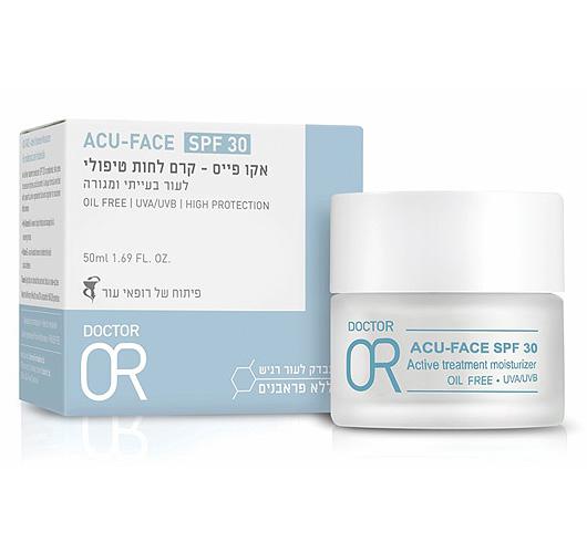 ACU OR - קרם לחות טיפולי לעור יבש הנוטה לפגמים